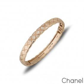 Chanel Beige / Rose Gold Coco Crush Bangle J11763